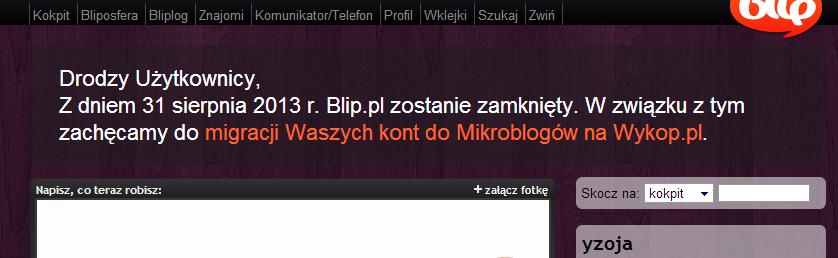 yzoja   kokpit użytkownika yzoja na BLIP.PL