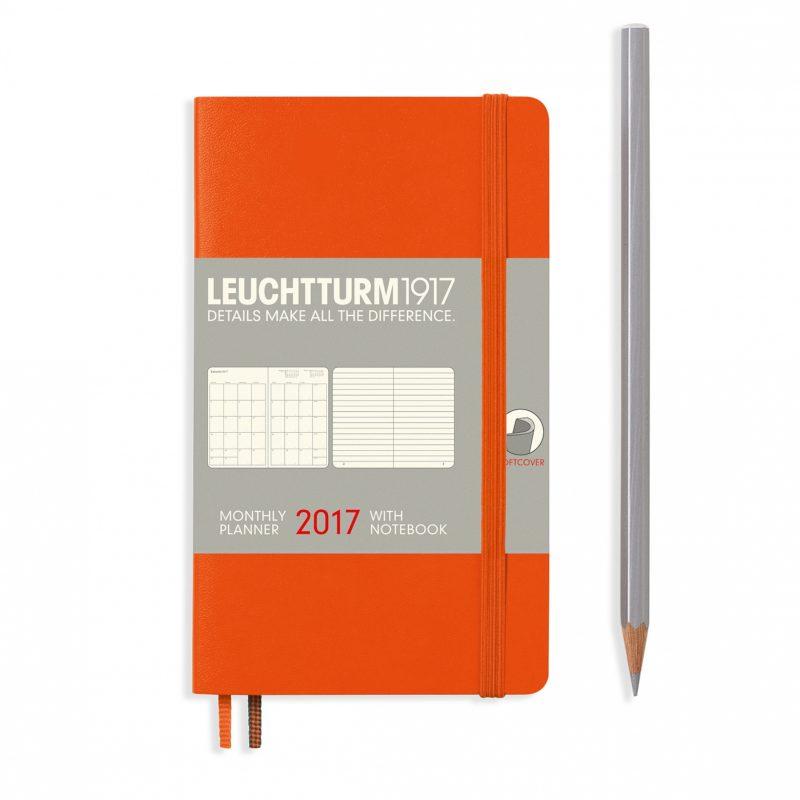 Leuchtturm monthly planner with notebook
